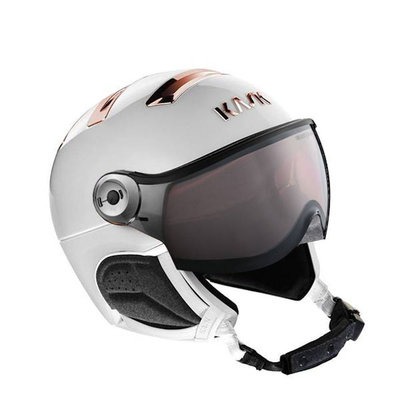 Kask Chrome white-pink gold - Ski Helmet with Visor Kask - Photochromic Visor (☁/❄/☀) Cat.1-2