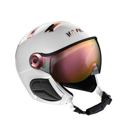 Kask Chrome Ski helmet with Visor white-pink-gold | Pink Mirror Visor (☁/☀) Cat.2