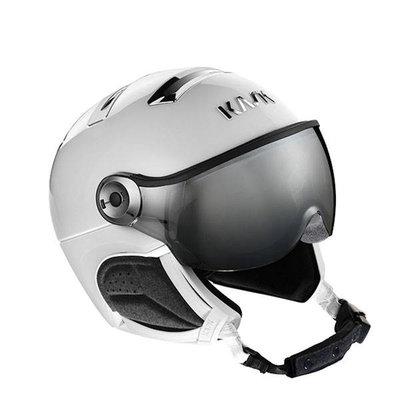 Kask Chrome Ski helmet with Visor white-silver | Silver Mirror Visor (☁/☀) Cat.2