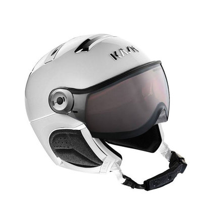 Kask Chrome white-silver - Ski Helmet with Visor Kask - Photochromic Visor (☁/❄/☀) Cat.1-2