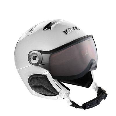 Kask Chrome white-silver - Ski Helmet with Visor Kask - Photochromic Visor (☁/❄/☀) Cat.1-2