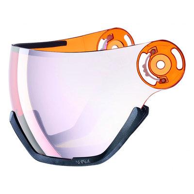 Uvex Ski helmet Visor Photochromic - For Uvex HLMT 400 - litemirror silver lasergold lite Cat. 2 (☁/☀)