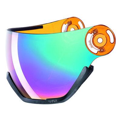 Uvex Ski helmet Visor Photochromic - For Uvex HLMT 400 - litemirror rainbow lasergold lite Cat. 2 (☁/☀)