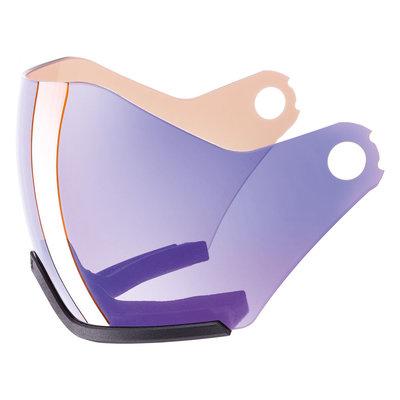Uvex Ski helmet Visor Photochromic - For Uvex HLMT 600 - variomatic mirror blue Cat. 1-2 (☁/❄/☀)