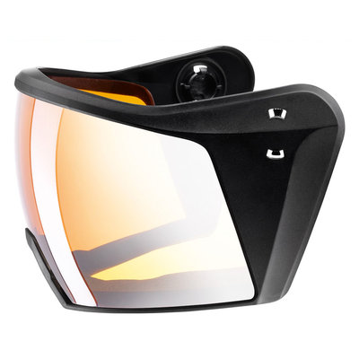 Uvex Ski helmet Visor - For Uvex HLMT 700 - litemirror silver lasergold lite Cat. 2 (☁/☀)