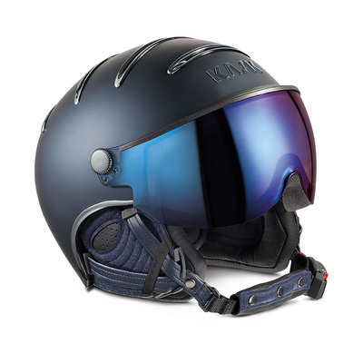 KASK CHROME SKI HELMET- BLUE - IRIDIUM MIRROR VISOR ☀