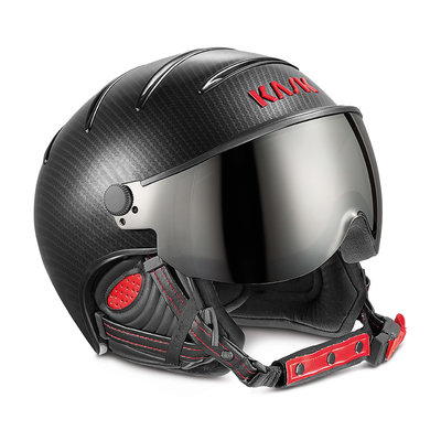 KASK ELITE PRO SKI HELMET - CARBON BLACK RED - PHOTOCHROMIC VISOR CAT. 2