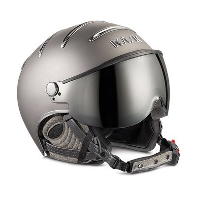 KASK CHROME SKI HELMET - PLATINUM - SILVER MIRROR VISOR CAT. 2