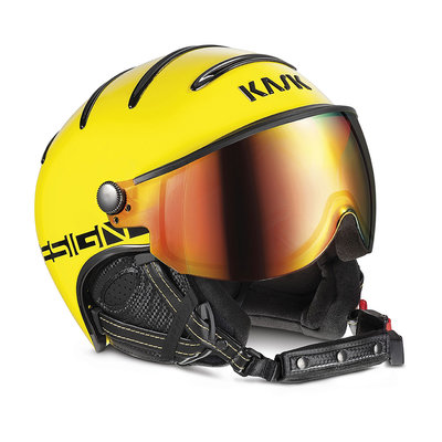 KASK MONTE CARLO SKI HELMET - YELLOW -  RED MIRROR VISOR CAT. 2