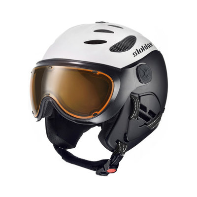SLOKKER BALO SKI HELMET - WHITE - PHOTOCHROMIC POLARIZED VISOR CAT.1-2