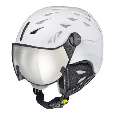 Helmet With Visor White - Cp Cuma - Mirror Visor (☁/❄/☀) Cat.2