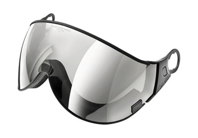 CP 02 Clear Silver Mirror Visor - Cat.2 (☁/☀/❄) - For CP Camurai & CP Cuma Ski helmet