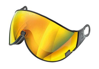 CP 05 Flash Gold Mirror Visor - Cat.3 (❄) - For CP Cuma & Cp Camurai Ski Helmet