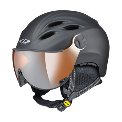 Helmet With Visor Black - Cp Curako - Mirror Visor (☁/❄/☀)