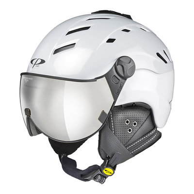 Helmet With Visor White - Cp Camurai - Mirror (☁/❄/☀) Cat. 2