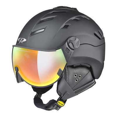 Helmet With Visor Black - Cp Camurai - Photochromic Mirror Visor (☁/❄/☀)