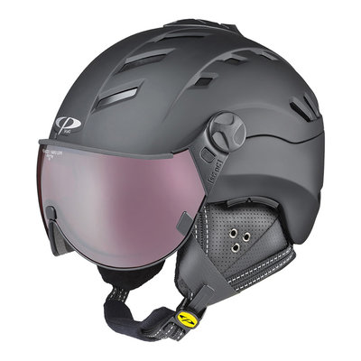 Helmet With Visor Black - Cp Camurai - Polarized Photochromic Visor (☁/❄/☀)