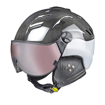 CP CAMURAI CARBON WHITE SKI HELMET -  DL POLARIZED/VARIO VISOR CAT. 2-3