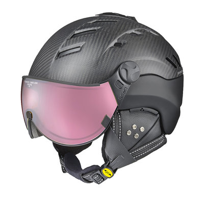 CP CAMURAI SKI HELMET - DARK CARBON BLACK - DL POLARIZED/VARIO VISOR CAT. 2-3