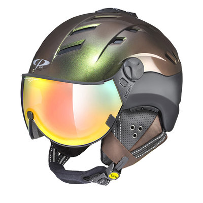 CP CAMURAI CR SKI HELMET - FOREST/BLACK S.T - DL VARIO LENS MULTICOLOUR MIRROR VISOR CAT.2-3