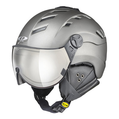 Helmet With Visor Grey - Cp Camurai Titan - Photochromic Mirror Visor (☁/❄/☀)