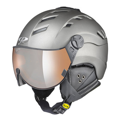 Helmet With Visor Grey - Cp Camurai Titan - Mirror Visor (☁/❄/☀)