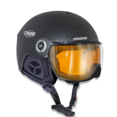 OSBE NEW LIGHT R SKI HELMET - CARBON LOOK BLACK - PHOTOCHROMIC VISOR CAT. 1-3