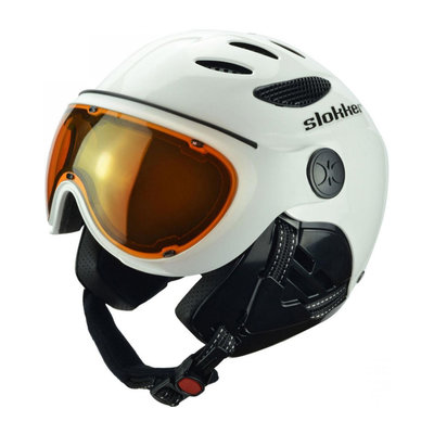 SLOKKER RAIDER SKI HELMET - BLACK - PHOTOCHROMIC POLARIZED VISOR CAT. 1-2