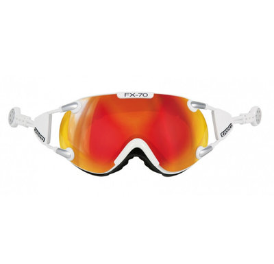 CASCO FX-70 CARBONIC SKI GOGGLE - WHITE - MIRROR CAT. 2