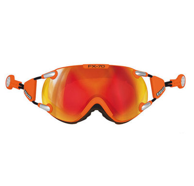 CASCO FX-70 CARBONIC SKI GOGGLE - ORANGE - MIRROR CAT. 2