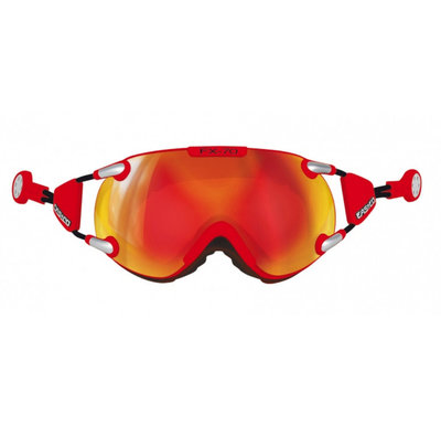 CASCO FX-70 CARBONIC SKI GOGGLE - RED - MIRROR CAT. 2
