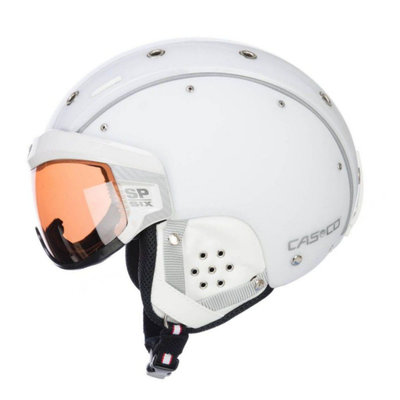 CASCO SP-6 SKI HELMET - WHITE - PHOTOCHROMIC VAUTRON VISOR - CAT.1-3