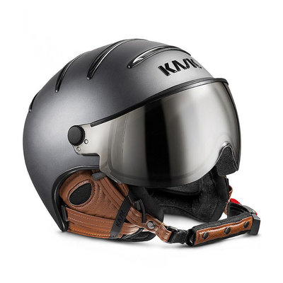 Skihelm Kask Class Matt - Antracite-Brown - photochromic Vizier cat. 2(☁/❄)