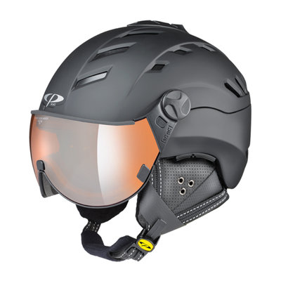 CP CAMURAI SKI HELMET - BLACK - ORANGE SILVER MIRROR VISOR CAT. 2