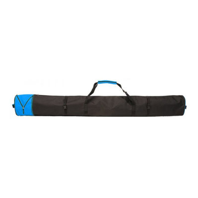 Ski Bag Corvara Vario - black blue - for 1 pair of skis with poles