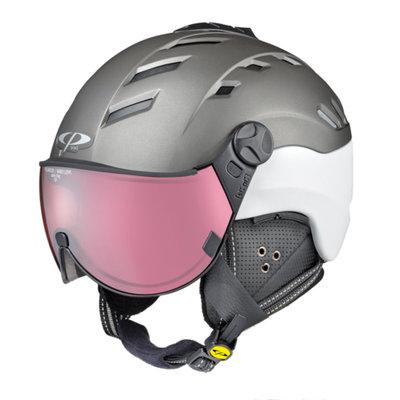 Ski helmet CP camurai - titan white - dl photochrom /polarised Visor -  (☁/❄/☀)
