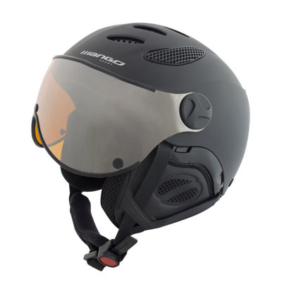 Ski helmet Mango cusna free - black - orange mirror visor cat.2 ☁/☀/❄