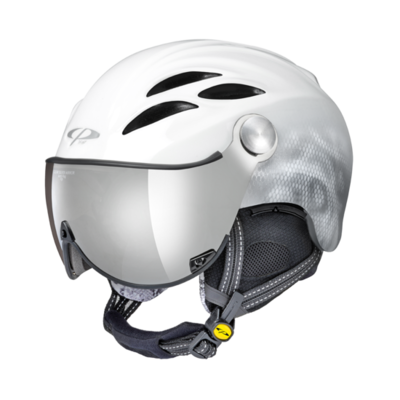 Helmet With Visor Women White - Cp Curako - Mirror Visor (☁/❄/☀)