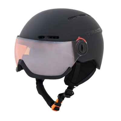 BRUNOTTI OBERON 4 SKI HELMET - BLACK - ORANGE MIRROR VISOR CAT.2