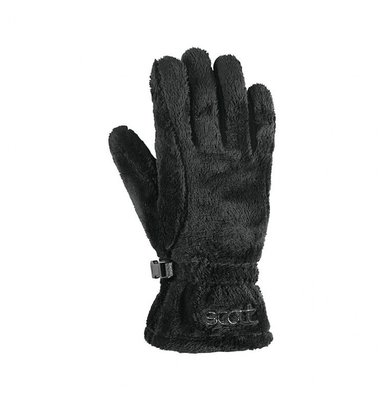 Scott Fuzzy Handschoenen Dames Zwart