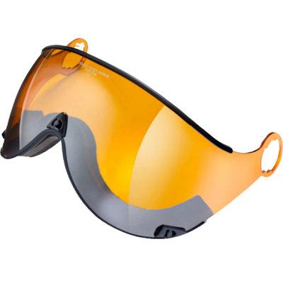 Ski helmet Visor Orange Silver Mirror - cat. 2 (☁/❄/☀) - For CP Curako