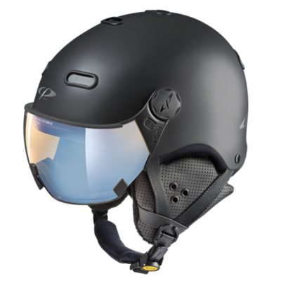 Ski Helmet With Visor Black - CP Carachillo - Photochromic Polarized Mirror Visor  ☁/❄/☀