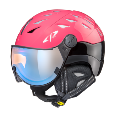 Helmet With Visor cp cuma pol vario - Photochromic/Polarized/Mirror ☁/❄/☀ - pink/ black