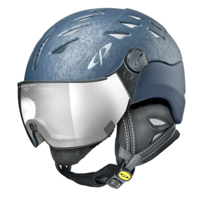 Helmet With Visor cp cuma cubic - Photochromic/Mirror ❄/☁/☀ - blue