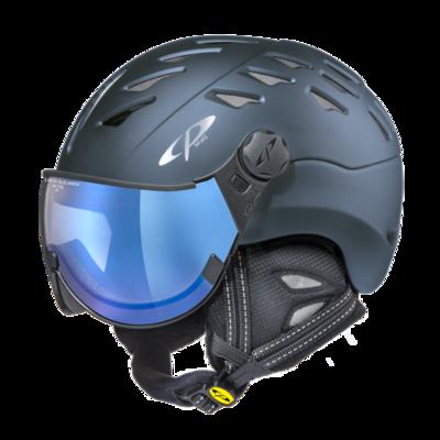 Helmet With Visor cp cuma vario - Photochromic/Mirror ☁/❄/☀ - blue