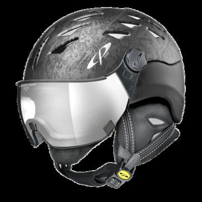 Helmet With Visor cp cuma cubic - Photochromic/Mirror ❄/☁/☀ - black