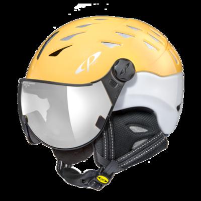 Helmet With Visor cp cuma - Mirror ☁/❄/☀ - yellow/ white