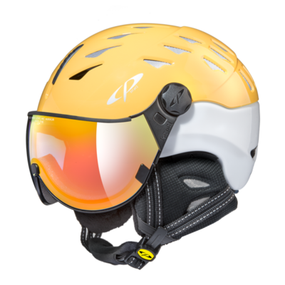 Helmet With Visor cp cuma vario - yellow/ white - Photochromic/Mirror ☁/❄/☀