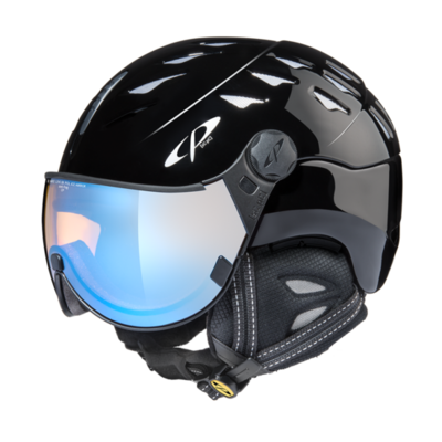 Helmet With Visor Black - Cp Cuma - Photochromic Polarized Mirror Visor (☁/❄/☀)