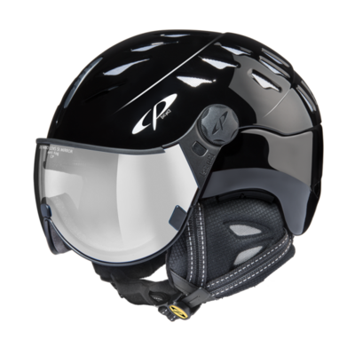 Helmet With Visor Black - Cp Cuma - Photochromic Mirror Visor (☁/❄/☀)